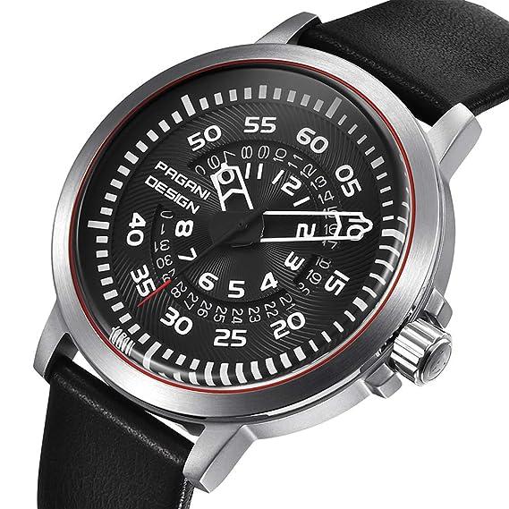 Reloj de Pulsera de Cuarzo para Hombre con números arábigos  Amazon.es   Relojes 75ffb50edf0d