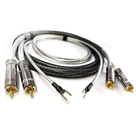 NF - Cable de Audio RCA de Alta definición, 2 x 0,50 mm2 1,5 m ...
