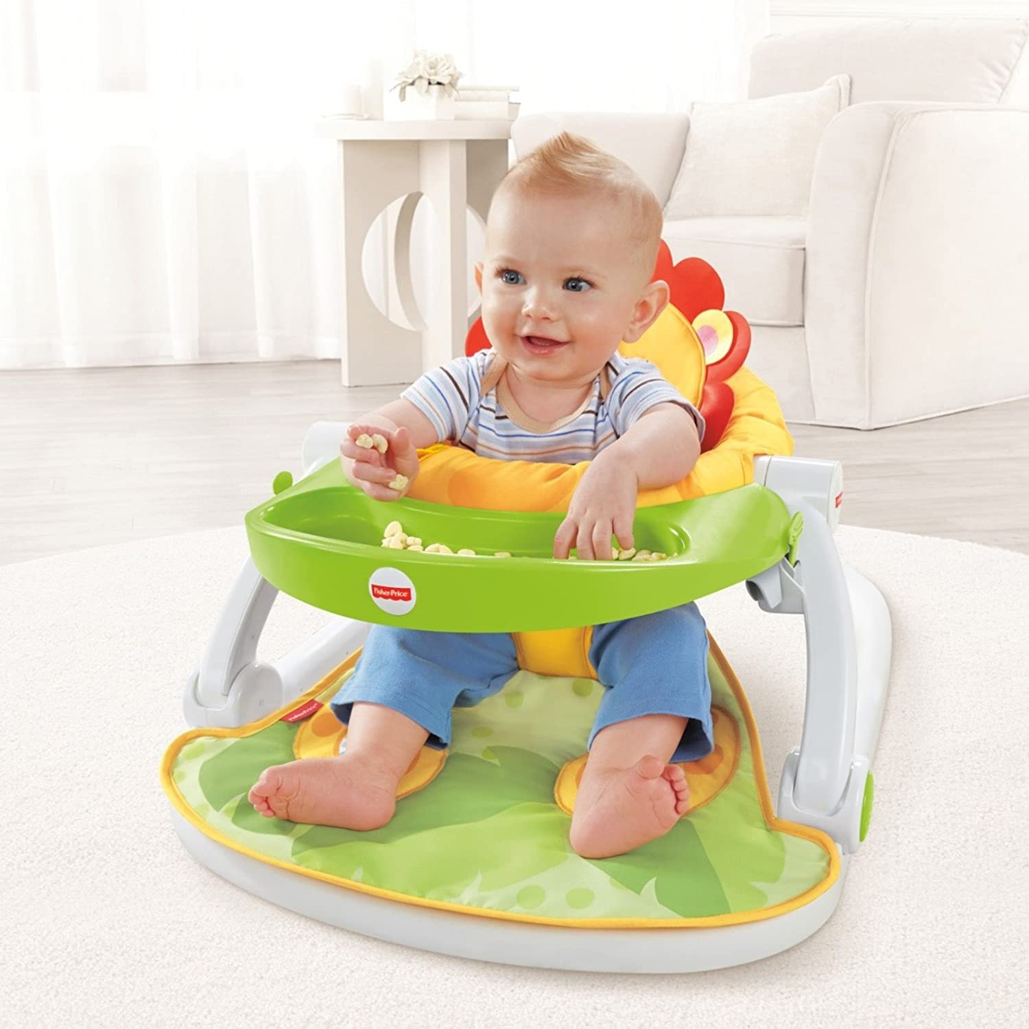 Fisher Price Sit Me Up Floor Seat with Tray Amazon Baby
