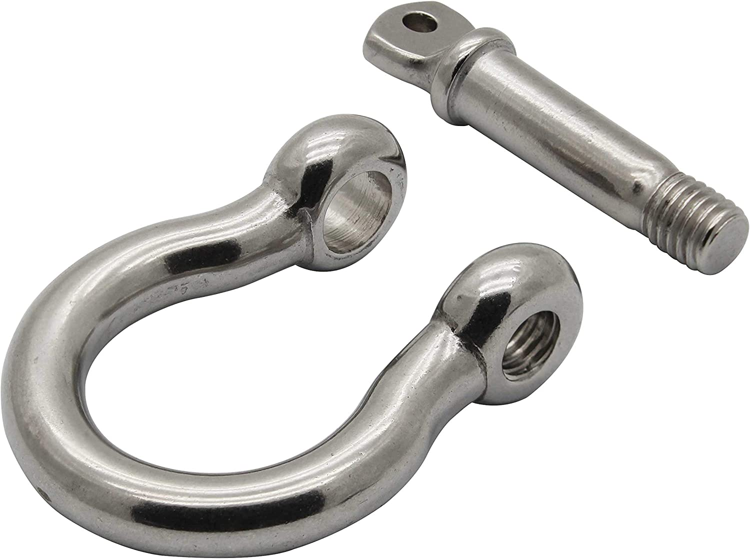 Extreme Max 3006.8309.2 BoatTector Stainless Steel Bow Shackle 1 2-Pack