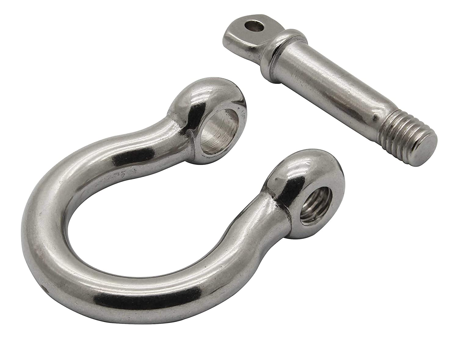 Extreme Max Silver Standard 3006.8306 BoatTector Stainless Steel Bow Shackle-7//8