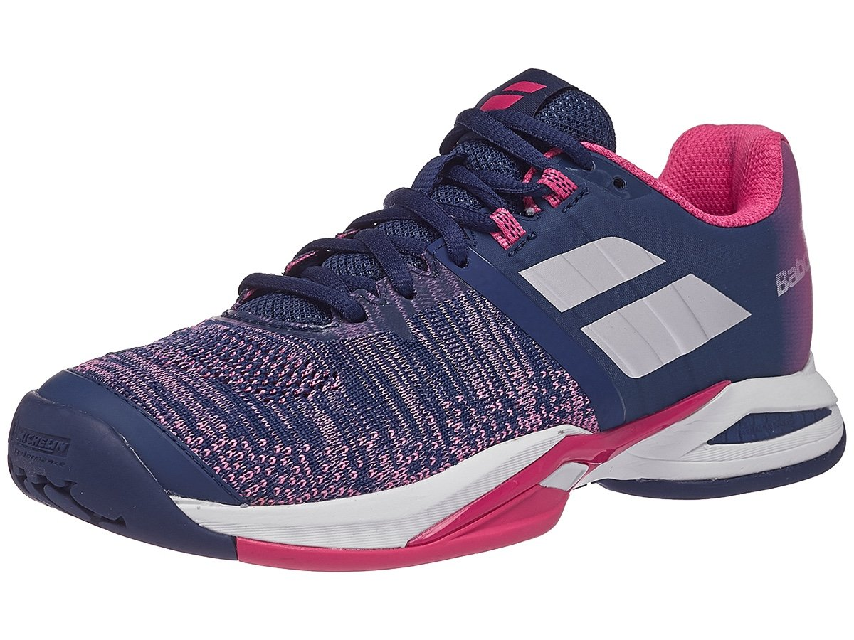 Babolat Blast AC Womens Tennis Shoes - Blue/Pink (8)