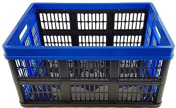 Klappbox 45L bis 50 kg  anthrazit 2x Profi rot  Faltbox  Box Kiste