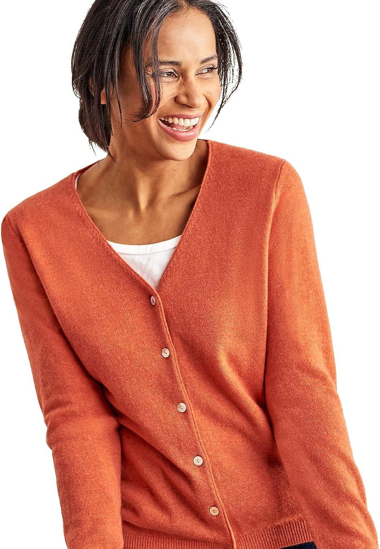 Femme Wool Overs Cardigan Luxueux /à col V Cachemire /& M/érinos