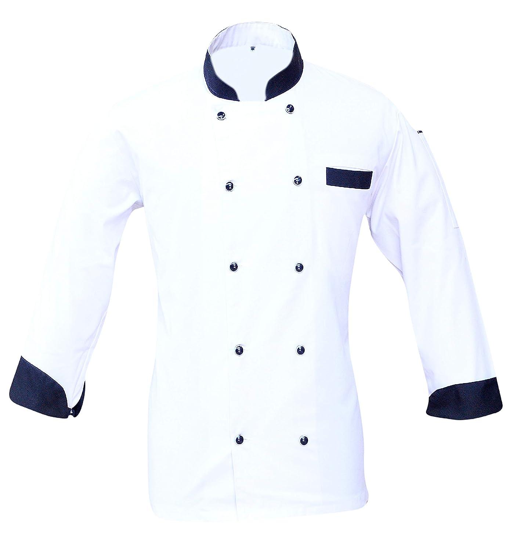 Leorenzo Creation BS-02 Beauteous Design Men's Chef Coat Colour White (Size=XS-4XL)