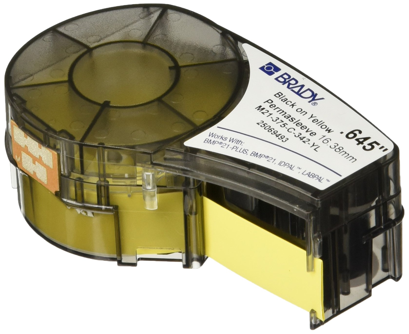 Brady M21-375-C-342-YL Cartridge, B342 Permasleeve Material .375'' W x 7' L, Yellow