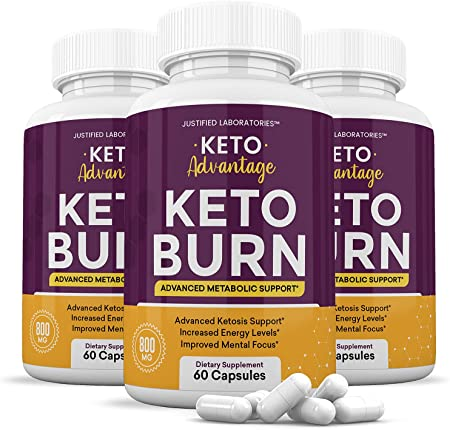 (3 Pack) Keto Advantage Keto Burn Pills Advanced Ketogenic Supplement Includes goBHB Exogenous Ketones Premium Ketosis Support for Men Women 180 Capsules