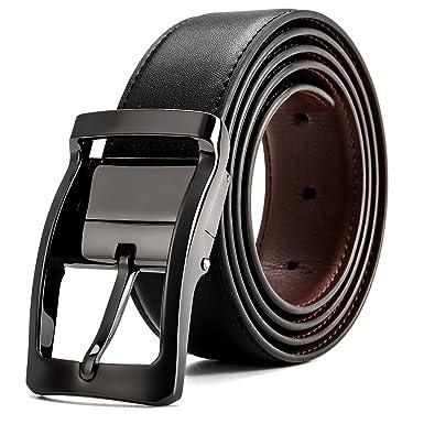 MUCO Ceinture réversible pour homme en cuir ceinture mode ceinture chic 5c5ff74f609