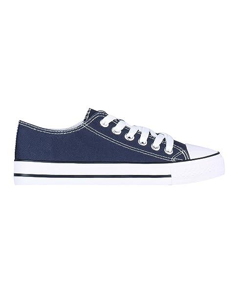 a45f4065f75 KRISP Zapatillas Mujer Tipo Imitación Casuales Lona: Amazon.es: Zapatos y  complementos