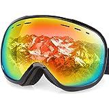 G4Free OTG Ski Goggles Anti-fog Snowboard Goggles Spherical Dual Lens for Men Women & Youth 100% UV400 Protection