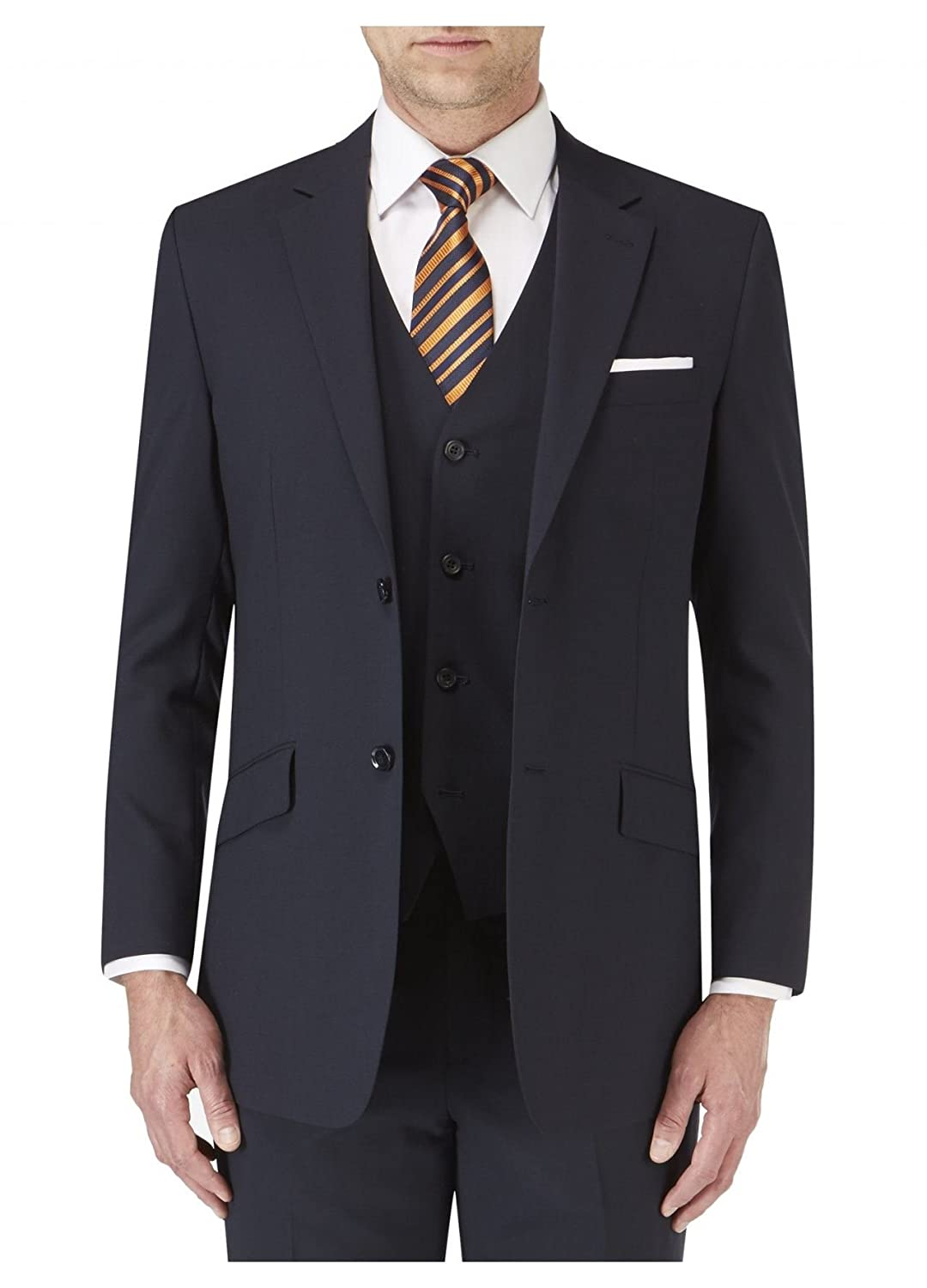 SKOPES Wool Rich Darwin Navy Suit Jacket in Size 34 To 72, S/R/L