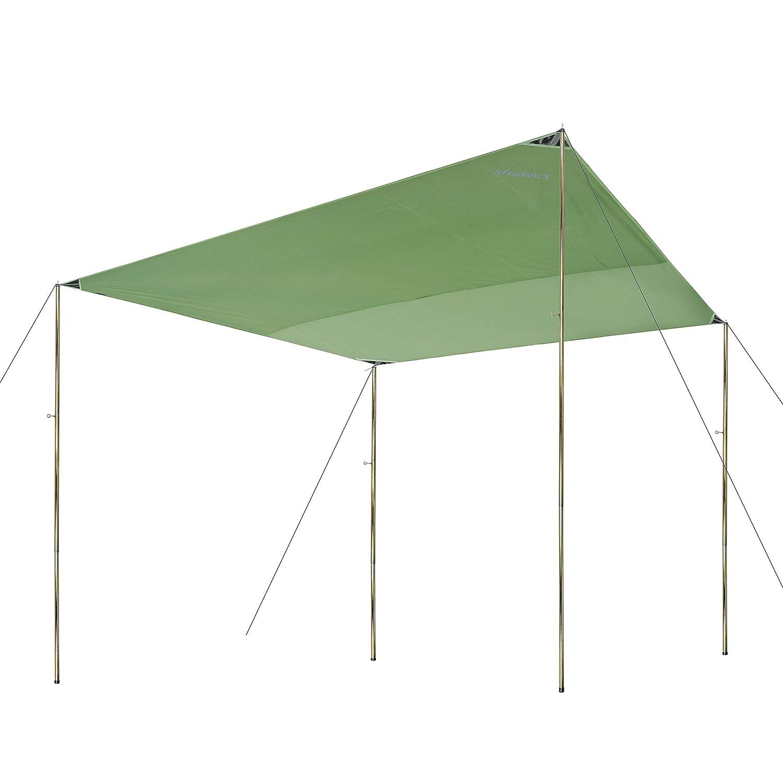 CampAir Tarp, Wasserdichte Zeltplane, rechteckig, 3 3 3 x 3m, 3 x 4m, 4 x 4m, Grün B07CM9F9X8 Zeltplanen Liebessport, wirklich glücklich c9c585