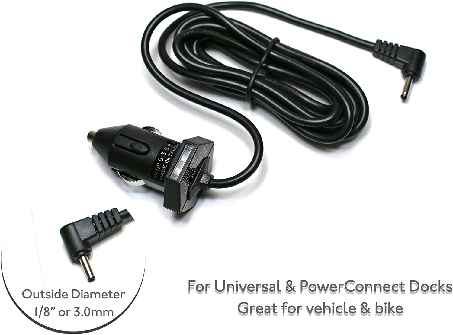 EDO Tech Ultra Compact 5V Car Charger Vehicle Power Cord for Sirius XM SUPV1 UC8 SV-3 Sportster Starmate Stratus 3 4 136-4458 Inv2 Stiletto Xm2Go Gex-Inno2 XpressRC Sportscaster Universal Radio Dock