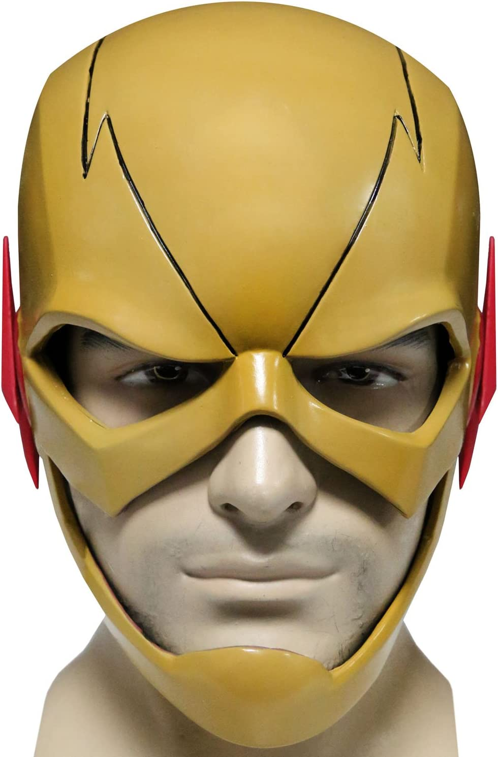 The Flash Helmet Reverse Flash Cosplay Mask Costume Accessories Comic Apparel Props Full Head Hat Toys Gift Yellow