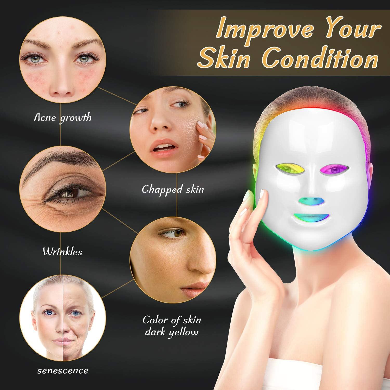 LED luz facial máscara Photon luz terapia para piel
