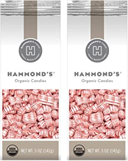 product image for Hammond's Organic Mint Pillows 2- 5 Ounce Bags. Hammond's Peppermint Hard Candy is Great for Holiday Candy Trays, Stocking Stuffers, Present Toppers and Holiday Office Party Gifts. Handmade in USA.
