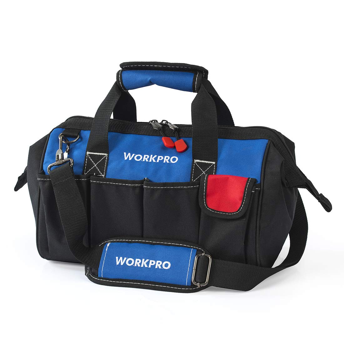 WORKPRO 14-inch Tool Bag, Multi-pocket Tool Organizer with Adjustable Shoulder Strap by WORKPRO