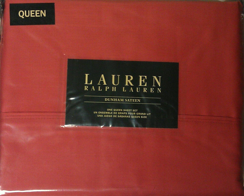amazon com lauren queen dunham sateen poppy sheet set home u0026 kitchen