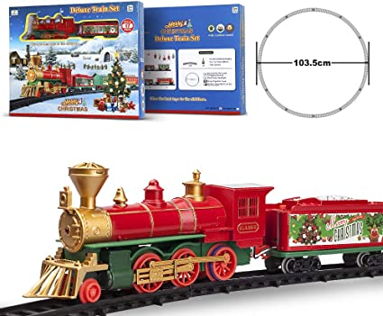 Toys for Boys Age 3 4 5 6 7 Year Old Kids Train Locomotive Light up Sound Gift