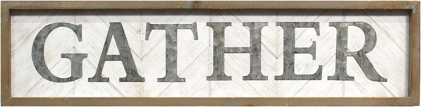 Stratton Home Decor -- Dropship, us home, SUHQX Stratton Home Gather Wall Decor Décor, Natural Wood, White