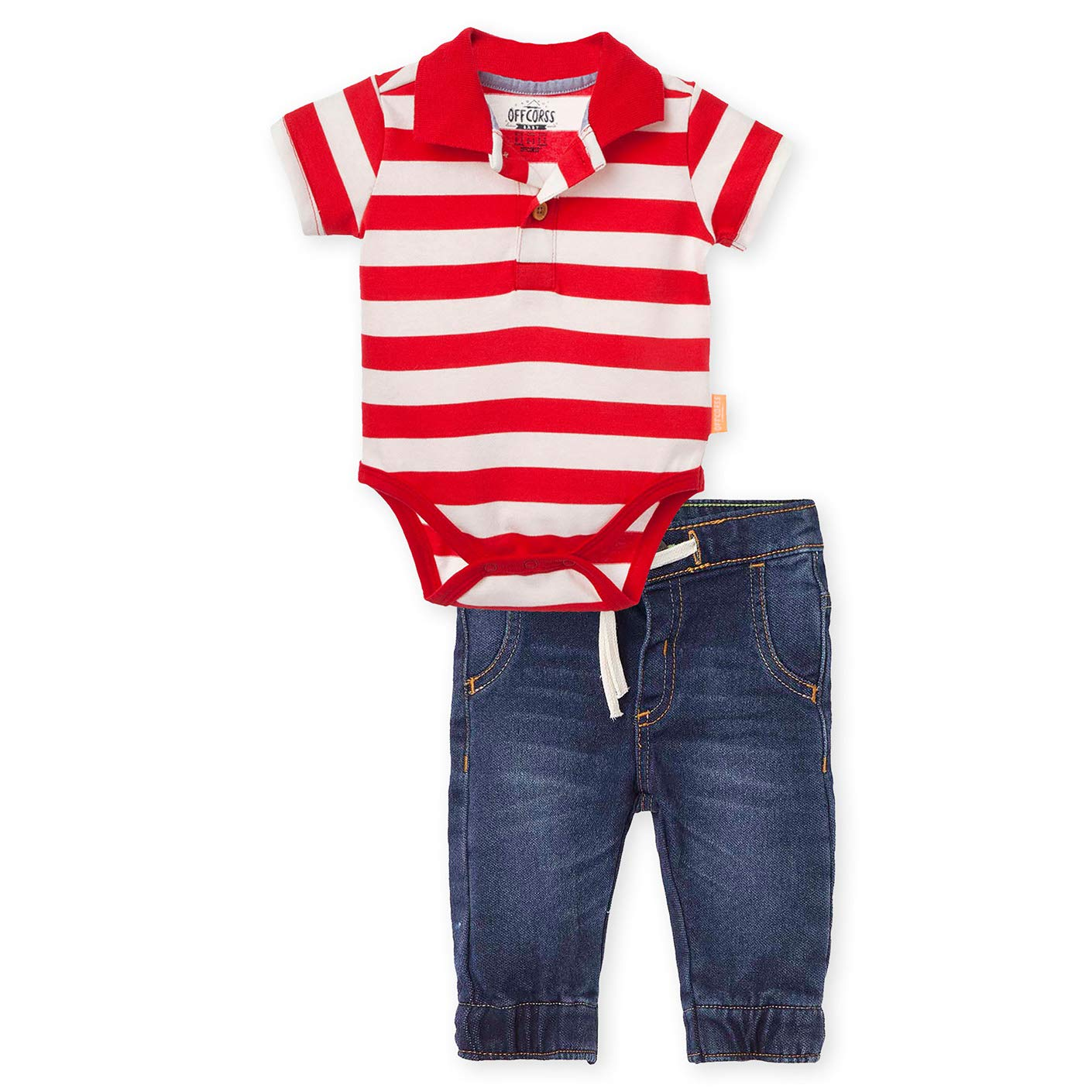 Amazon.com: OFFCORSS Baby Boy Bodysuite Pique Striped Polo Shirt ...