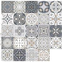Väggklistermärken golv kakel klistermärke 24 st tryckt kök badrum kakel klistermärken kakel dekaler för vardagsrum kök…