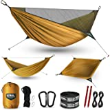 ETROL Upgraded 2 in 1 Camping Hammock with Mosquito Net - Lightweight Portable Hammock for Outside, Travel, Hiking…