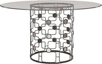 Amazon Com Bassett Mirror Company Velde Round Dining Table Tables