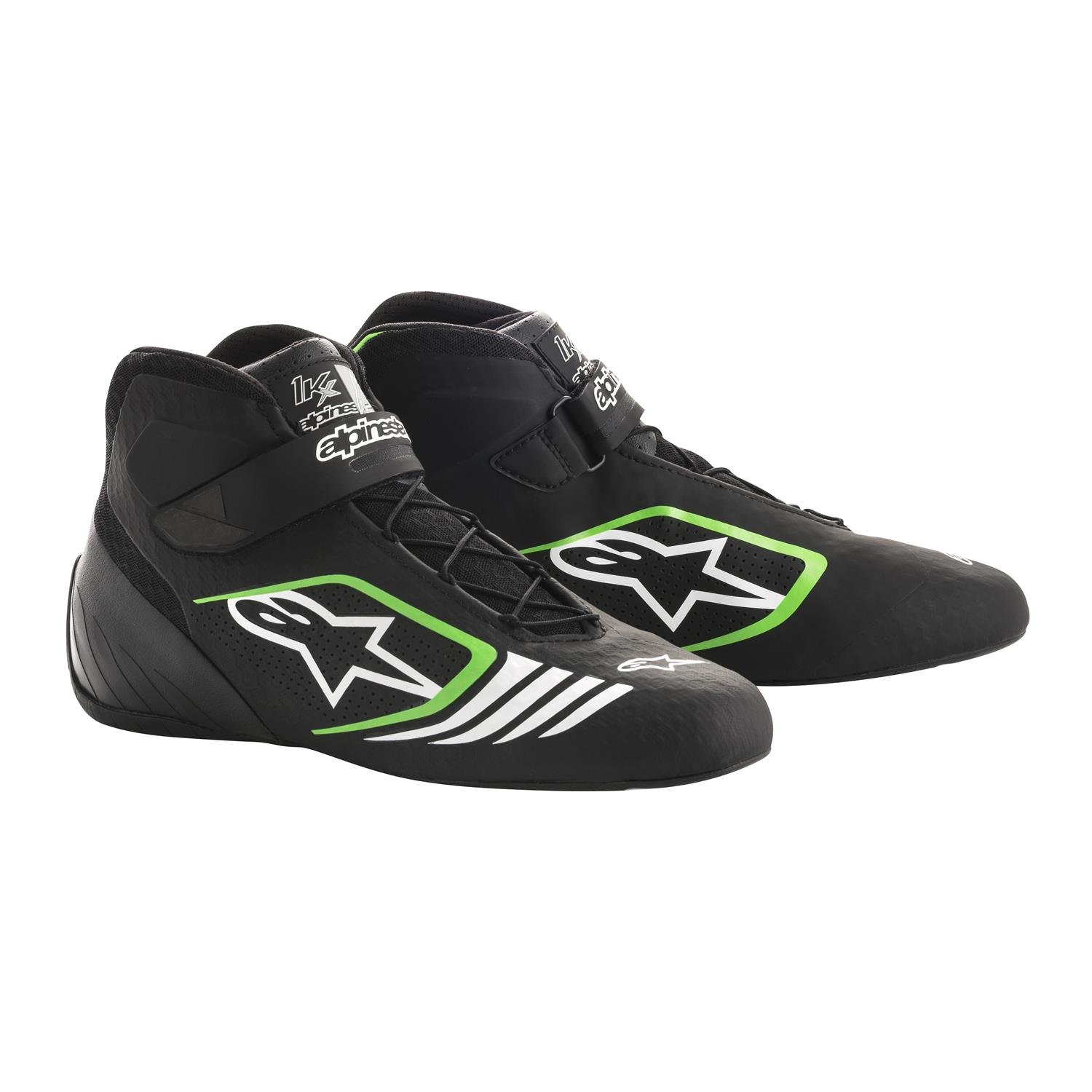 alpinestars(アルパインスターズ) TECH 1-KX KART SHOES BLACK GREEN 9.5 2712118-1069-9 B076Q6D4ND