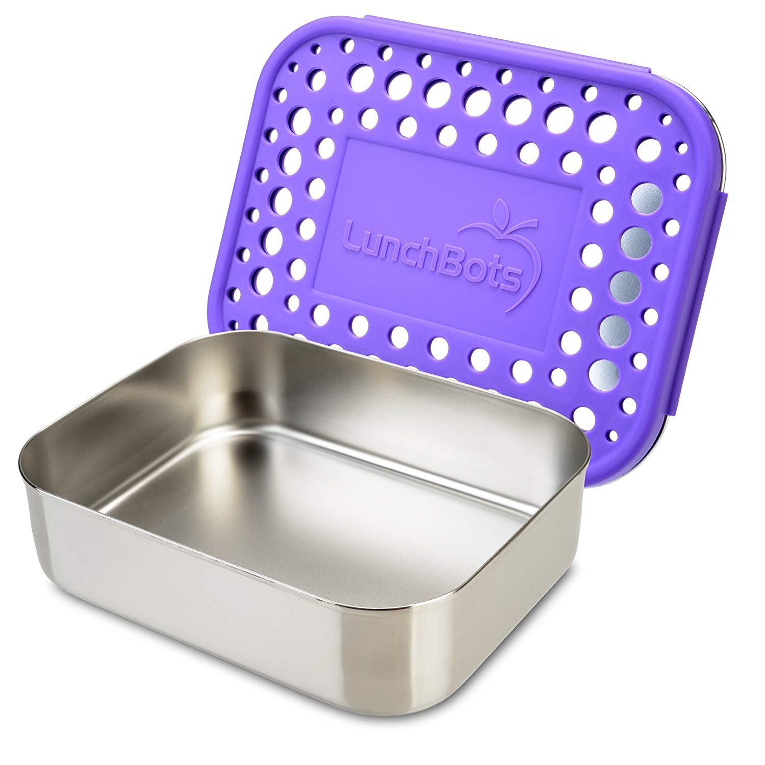dd085d591eaf LunchBots Medium Uno Stainless Steel Sandwich Container - Open Design for  Wraps - Salads or a Small Meal - Eco-Friendly - Dishwasher Safe and  BPA-Free ...
