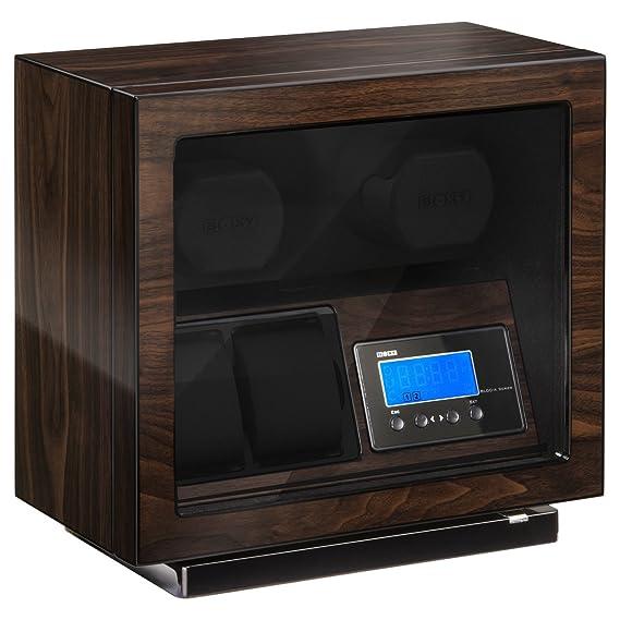Boxy bldc 02, Reloj Clasico - Expositor para 2 relojes, nogal: Amazon.es: Relojes