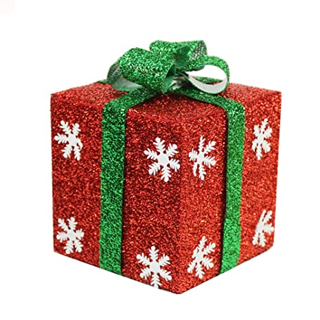Amazon.com: Christmas Decorations/Xmas Festive Accessory /Christmas Tree Decorative boxes/Gift Boxs Perfect To Wrap Presents (6 in, Gold): Home & Kitchen
