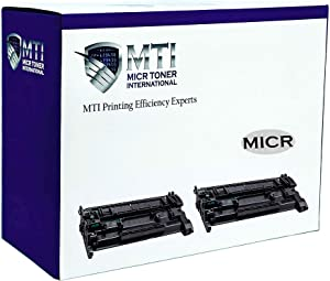 MICR Toner International Compatible Magnetic Ink Cartridge Replacement for HP CF226A 26A Laserjet Pro M402dn M402n M402dw M426fdn M426fdw (2-Pack)