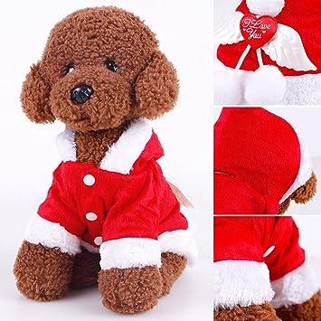 Weihnachten Hundemantel Puppy Hund mit Kapuze Kleidung mit Engel ...