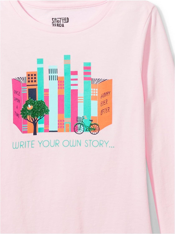 Brand Spotted Zebra Girls Toddler /& Kids 4-Pack Long-Sleeve T-Shirts