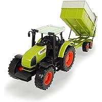 Dickie - Tractor con Remolque claas, 57 cm