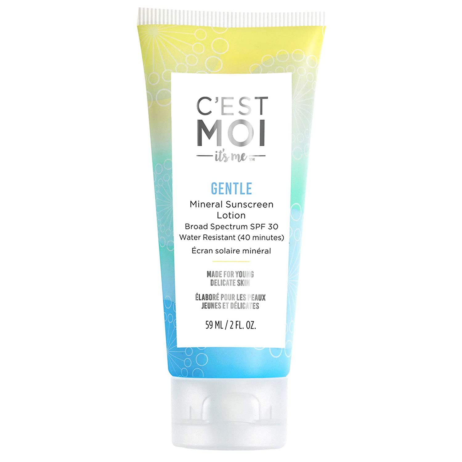 The C'est Moi Gentle Mineral Sunscreen Lotion Broad Spectrum SPF 30 travel product recommended by Deborah Kerner on Pretty Progressive.