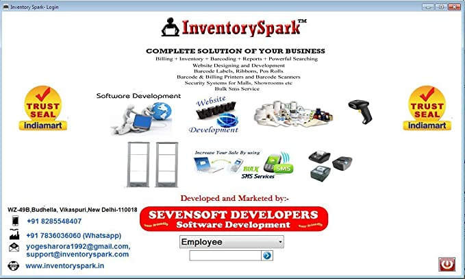 InventorySpark GST Billing Barcode Software Full Version - Invoice maker software women's clothing stores online