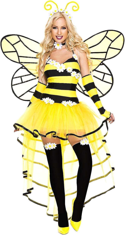 Queen Bee Bumblebee Mini Crown Hat Yellow Black Costume Headpiece Fascinator