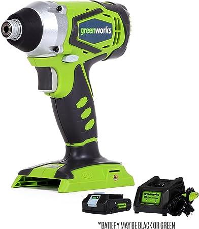 Amazon.com: Greenworks G-24 24 V Taladro Atornillador de ...