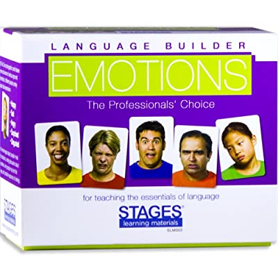 Stages Learning Materials Language Builder Emotion Picture Cards Expressions, Conversation, and Situation Photo Cards for Autism Education, ABA Therapy: Toys & Games