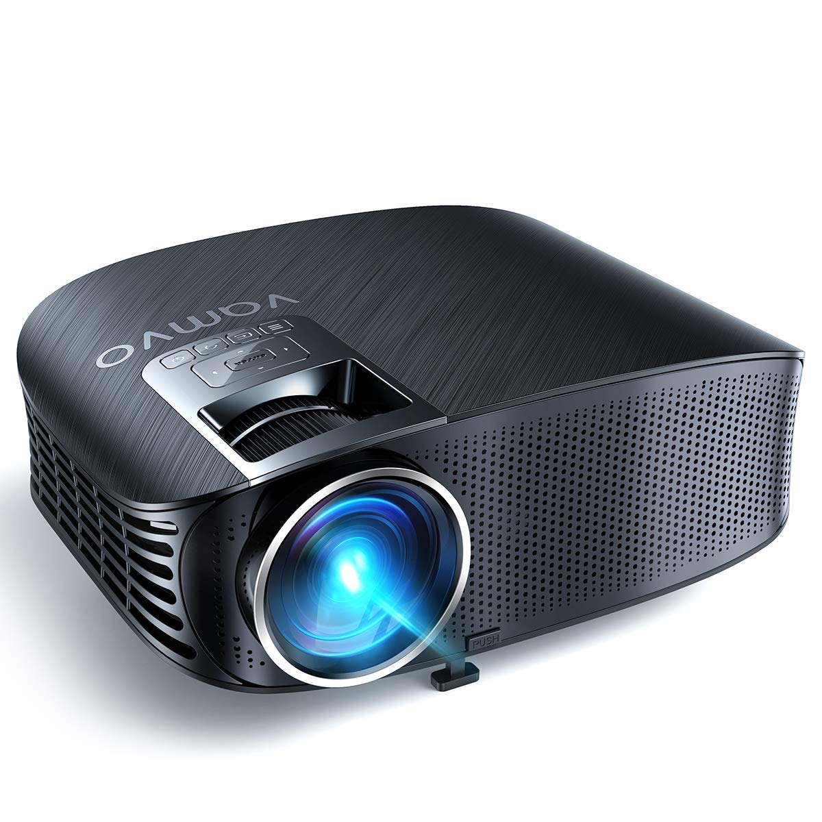 Video Projector, Outdoor Movie Projector with 200'' Projection Size, vamvo Home Theater Projector, Support 1080P, Compatible with Fire TV Stick, PS4, HDMI, VGA, AV and USB 3600S