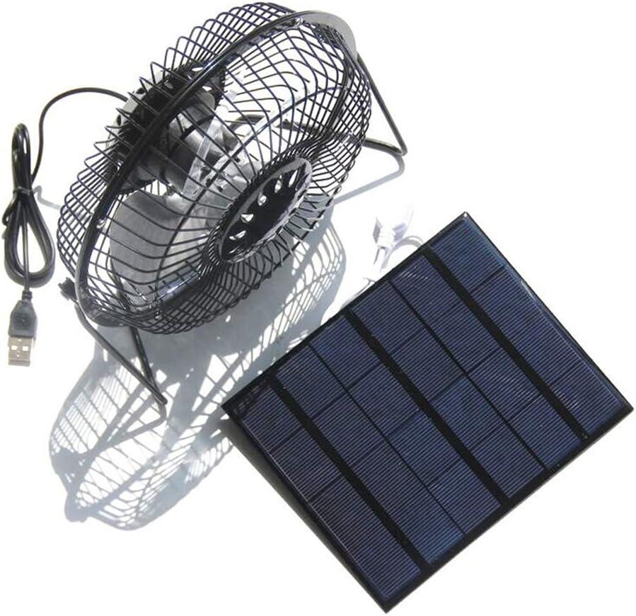 3.5 W, 6 pulgadas Vosarea Ventilador USB alimentado por energ/ía solar Ventilador de esquina silencioso Ventilador para exteriores para cocina dom/éstica