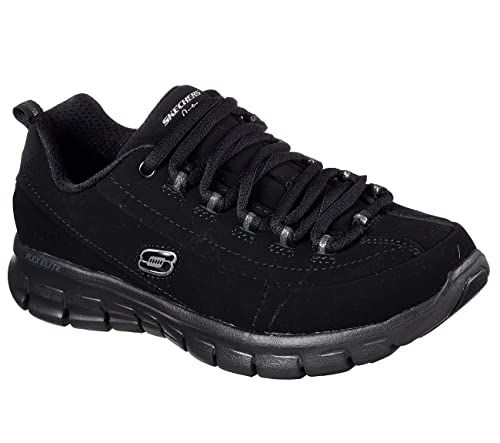 Skechers Synergy Trend Setter Lace Up Athletic Sneakers Black 5
