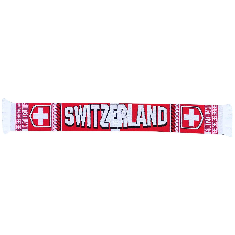 Sciarpa Svizzera per Tifosi di Calcio Schweiz 100/% Acrilico