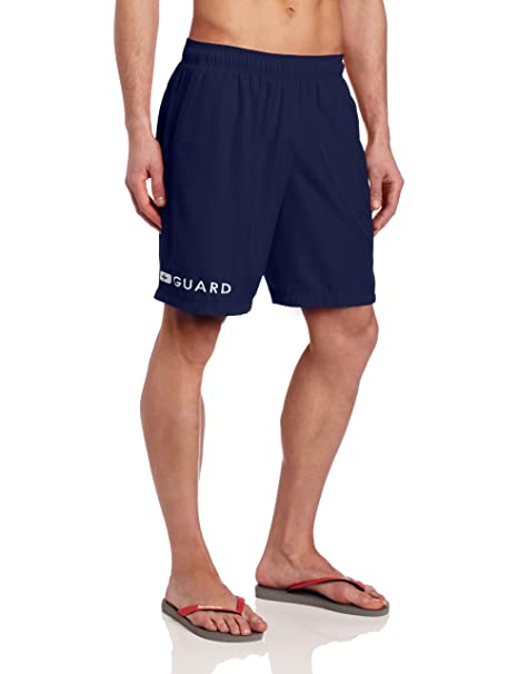 d71028613f Speedo Men's Guard Volley 19 Inch Swim Trunks, Nautical Navy, Small
