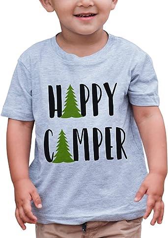 7 ate 9 Apparel Unisex Happy Camper Outdoors Raglan Tee