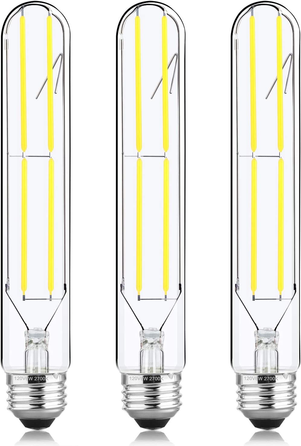 HXMLS T10 Dimmable 6W Tubular LED Bulbs,Daylight 4000K,Edison Style Filament Light Bulb T30,Vintage Bulb 60 Watt Equivalent, E26 Medium Base 600LM,Clear Glass Cover …