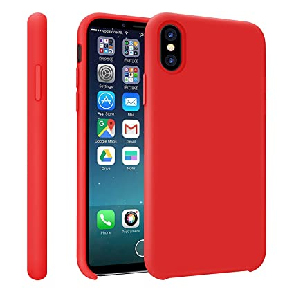 Amazon.com: iPhone X funda, cm líquido Gel de silicona goma ...