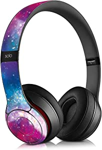 kwmobile Protective Skin - Adhesive Decal Thin Protection Wrap Compatible with Beats Solo 2 - Outer Space Multicolor/Dark Pink/Black